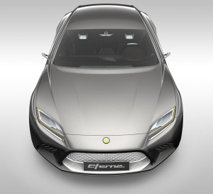 The impressive front of 2015 Lotus Eterne
