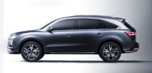 Profile view of Acura MDX