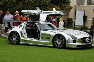 A chrome Mercedes Benz