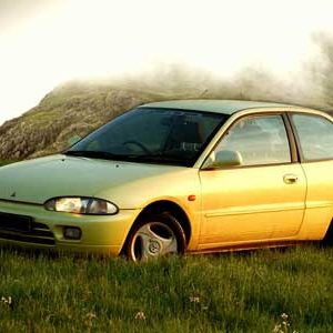 Mitsubishi Colt yellow model