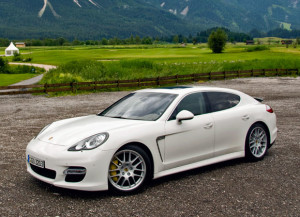 panamera white outdoors
