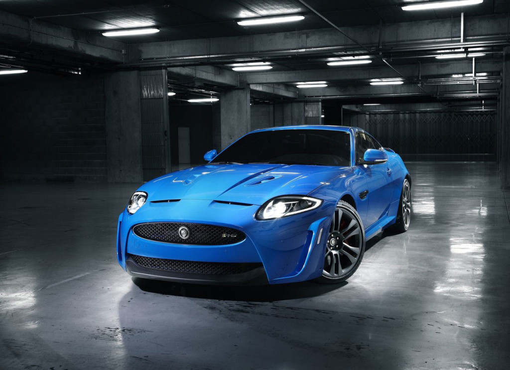 blue Jaguar XKR-S 2012