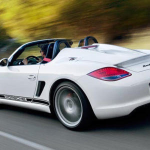boxster spyder white rear