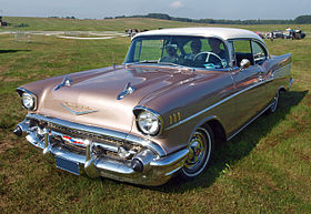 Chevrolet Bel Air hardtop coupe – 1957