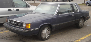 Dodge Aries coupe model – 1985
