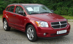 Dodge Caliber SXT red model