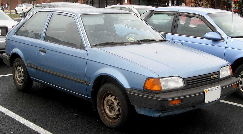 Mazda 323 hatchback blue 20