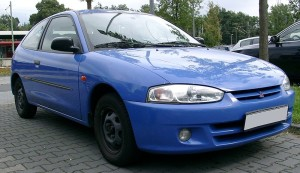 Mitsubishi Colt blue model