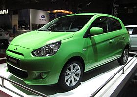Mitsubishi Mirage green model – 2012