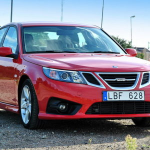 Saab 9-3 saloon red model – 2008