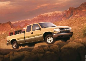 1999 Chevrolet Silverado roughing it out