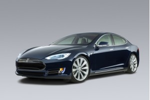 Tesla S Model car – blue