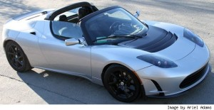 Tesla Roadster sports car model