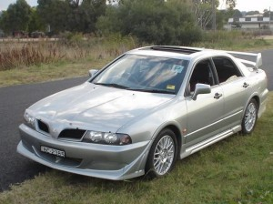 Mitsubishi Magna Ralliart grey model
