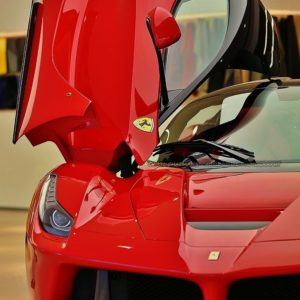 The ultimate car in anyone's wishlist – A red Ferrari