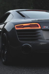 Impressive tail-lights of Audi R8