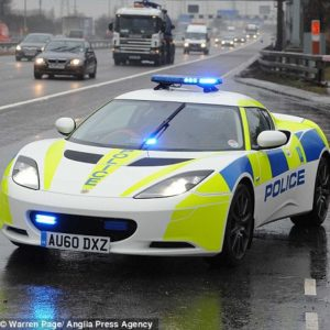 Lotus has donated one of its latest Evora models to help police