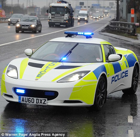 Lotus has donated one of its latest Evora models to help police  1