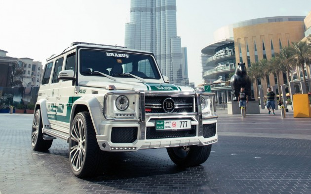 Brabus B63S-700 Widestar, the latest Dubai Police Car