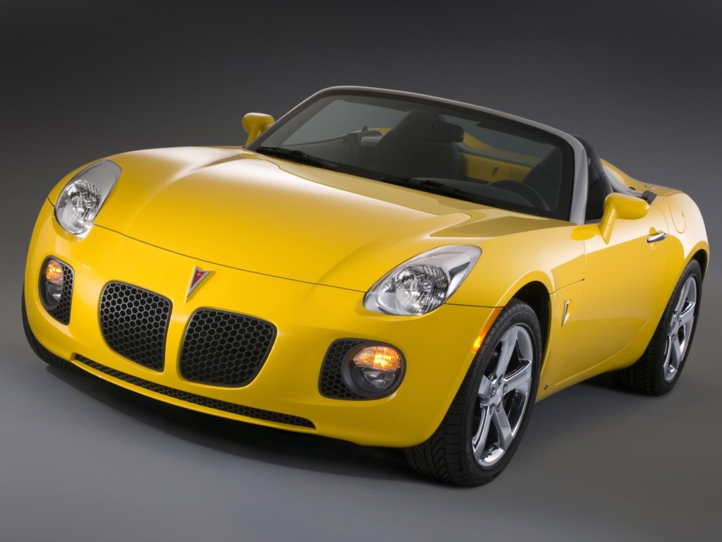The curvaceous Pontiac Solstice was a huge hit