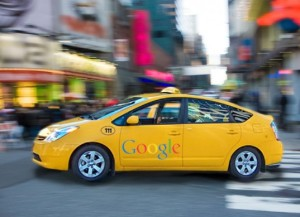 Google driverless taxi cabs