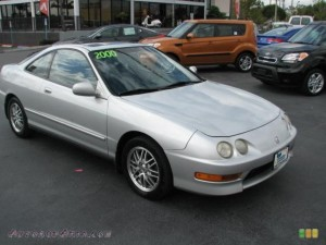 ACURA INTEGRA LS COUPE IN VOGUE SILVER METALLIC 014572 AUTOS