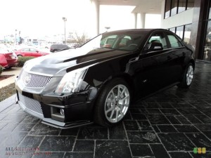 CADILLAC CTS V SEDAN IN BLACK RAVEN CAR