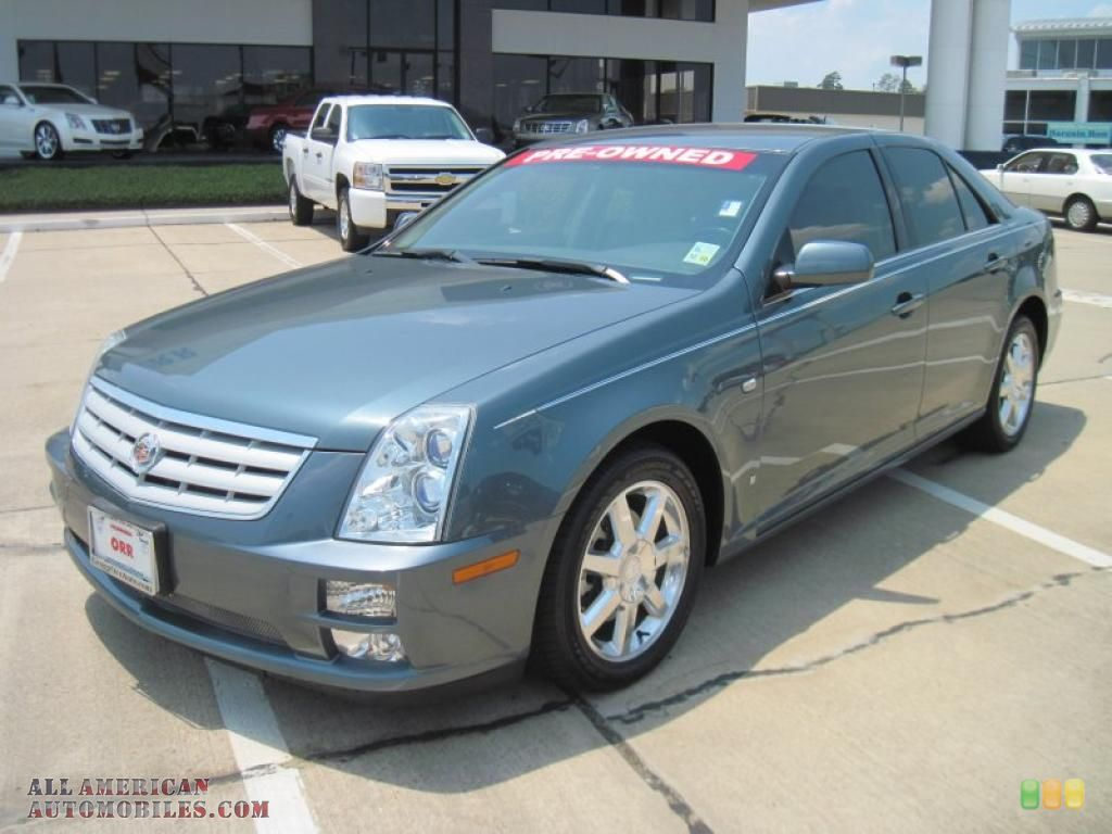 CADILLAC STS V6 IN STEALTH GRAY CAR