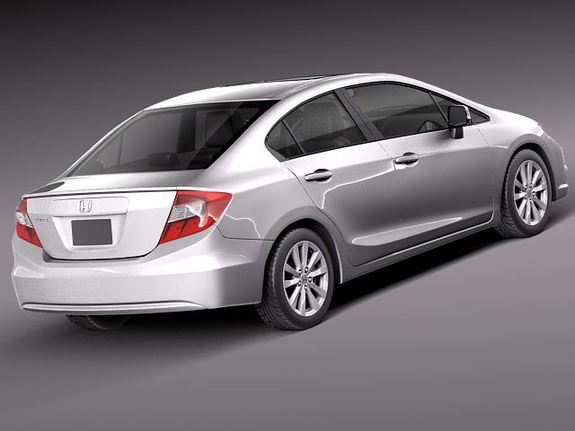 HONDA CIVIC SEDAN USA 2013 3D MODEL 3DS C4D FBX LWO LW LWS