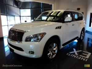 NFINITI QX 56 IN MOONLIGHT WHITE 502096 JAX SPORTS CAR
