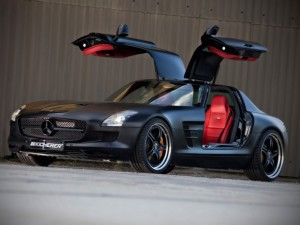 MERCEDES BENZ SLS SUPERSPORT EDITION BLACK FRONT ANGLE