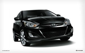 HYUNDAI ACCENT 2012 BLACK CARS