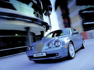 SKY BLUE JAGUAR CAR