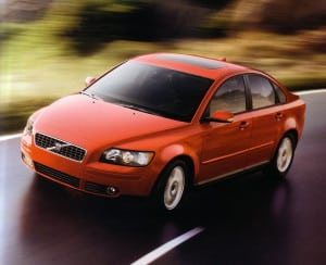THE VOLVO S40 IN PASSION RED