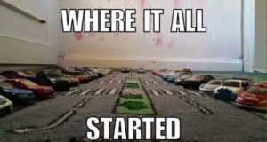 Where it All Started Car Carpet Car Lot