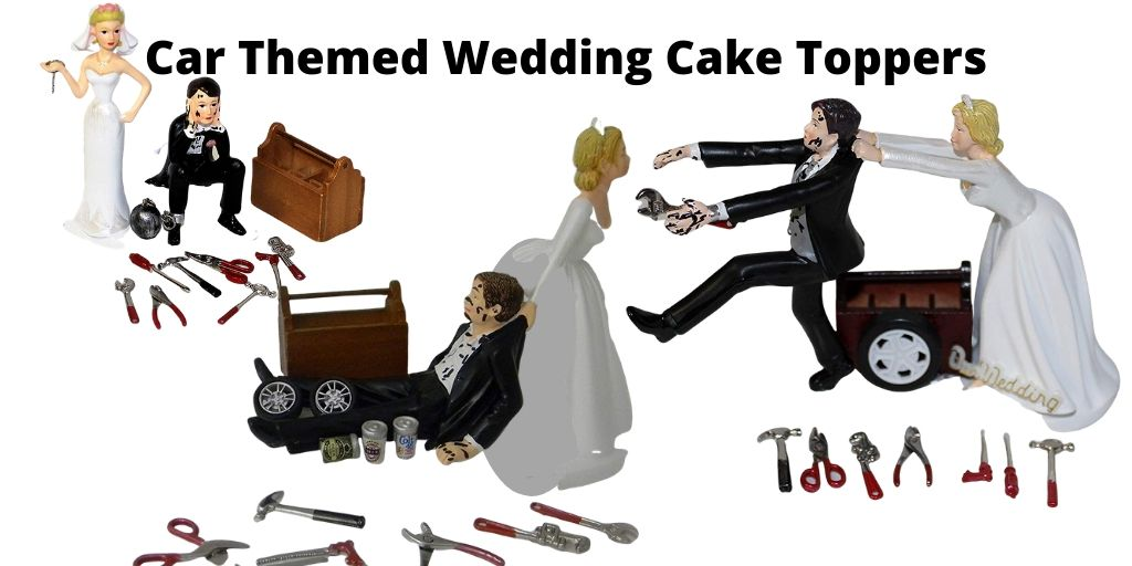 Car Themed Wedding Cake Toppers