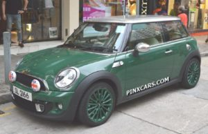 Green Mini Cooper Mini Micro Cars